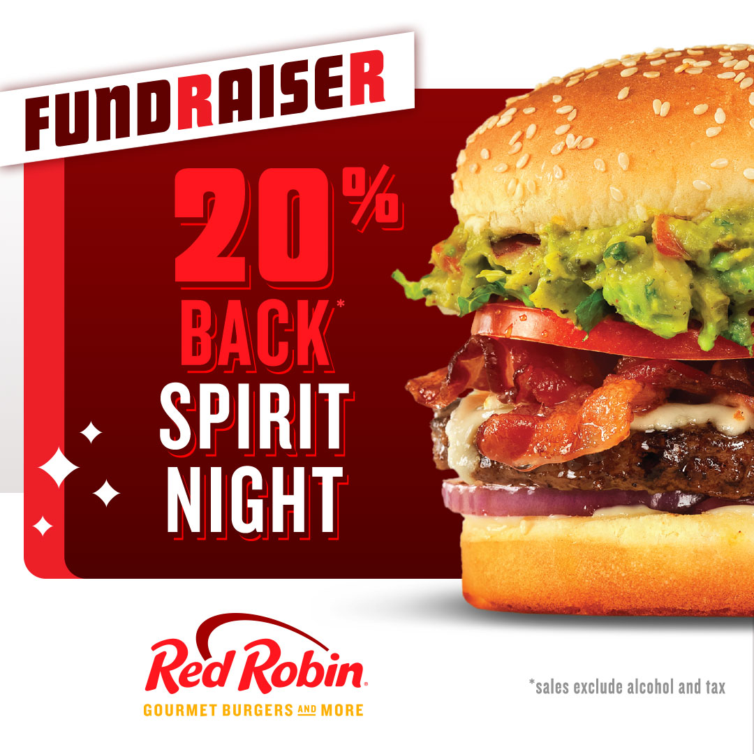 'Well Done' Fundraising: Red Robin Spirit Night on Oct. 8